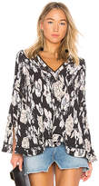 Elliatt Impressionist Top in Black. - size L (also in M,S,XS)