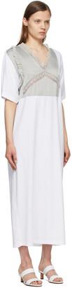 MM6 MAISON MARGIELA White & Grey Combo Tee Dress