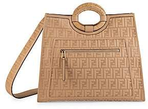 Fendi Women's Runaway Embossed Leather Shopper