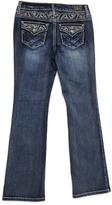 ZCO Dark Blue Embroidered Bootcut Jeans - Girls