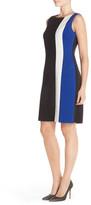 Ellen Tracy Colorblock Ponte Sheath Dress