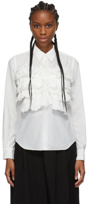 Comme des Garcons White Ruffled Shirt