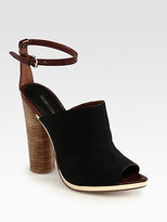 Rebecca Minkoff Ragini Jersey Fabric & Leather Ankle Strap Sandals