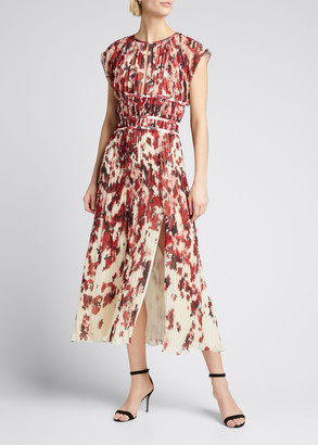Altuzarra Floral Pleated Midi Dress