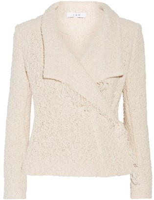 IRO Mira Fringed Cotton-blend Tweed Jacket