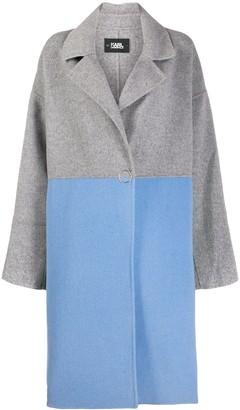 Karl Lagerfeld Paris Colour-Block Button Coat