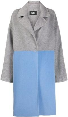Karl Lagerfeld Paris colour-block button coat