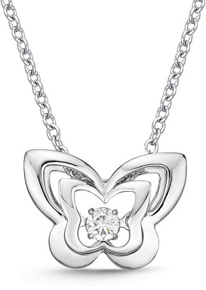 Memoire 18K 0.05 Ct. Tw. Diamond Dancing Necklace