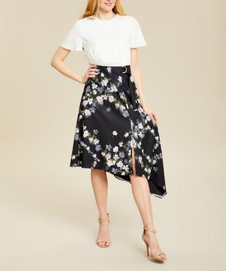 Ted Baker Women's Casual Dresses IVORY - Ivory Opal Floral Mirri Handkerchief Dress - Women