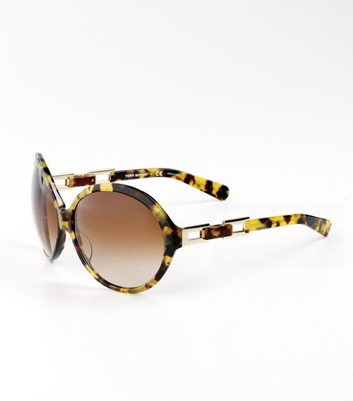 Tory Burch Oversized Round Sunglasses With Buckle Detail