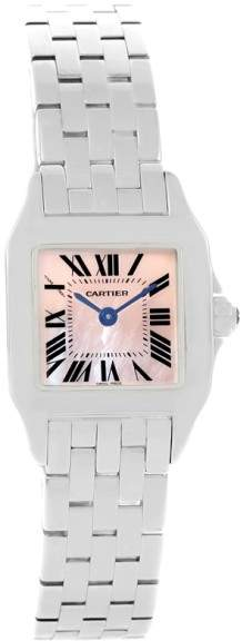 Cartier Santos Demoiselle W25075Z5 Stainless Steel Mother Of Pearl Dial 22mm Womens Watch