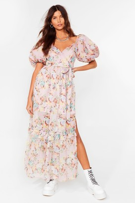 Nasty Gal Womens Oh What a Feelin' Floral Maxi Dress - Pale Pink