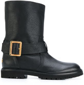 Bally textured buckle boots - women - Leather/rubber - 36