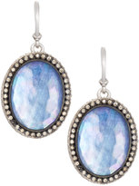 Armenta New World Large Sapphire Triplet & Diamond Oval Drop Earrings