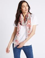 Marks and Spencer Nautical Tile Floral Print Scarf