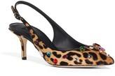 Dolce & Gabbana Women's Leo Embellished Pointy Toe Pump