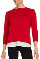 Calvin Klein Layered Pullover Sweater