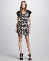 Leopard-Print Shift Dress