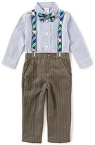 Starting Out Baby Boys 12-24 Months Button-Down Shirt, Flat-Front Pants, Suspenders & Bow Tie Set