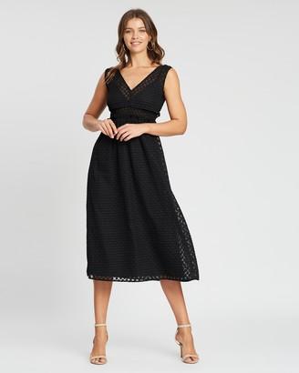 Atmos & Here Juliet V-Neck Midi Dress