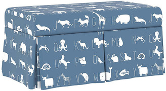 One Kings Lane Hayworth Storage Bench - Blue Linen