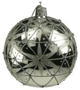 Briefing Wonders Of Stars Embellished Glass Ball Ornament