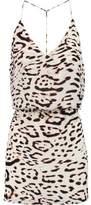 Vix Kim Leopard-Print Silk Crepe De Chine Mini Dress