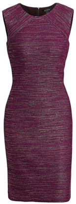 St. John Tweed Sheath Dress