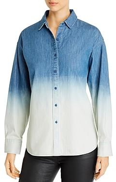 Karl Lagerfeld Paris Dip-Dyed Jean Shirt