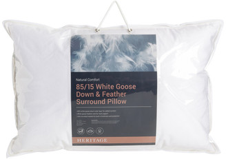 Heritage 85/15 White Goose Down Surround Pillow No Colour Standard