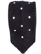 Black Seborga Polka Dot Knitted Silk Tie