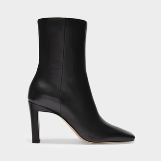 Wandler Ankle Boots In Black Smooth Leather