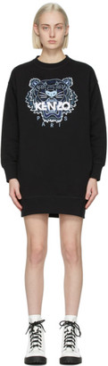 Kenzo Black Classic Tiger Sweatshirt Dress