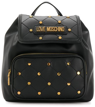 Love Moschino Studded Quilted Backpack