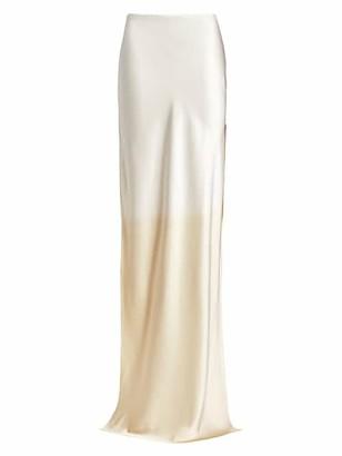 Alejandra Alonso Rojas Dip-Dye Silk Maxi Skirt