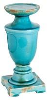 "A&B Home Ceramic Pillar Candle Holder - Blue (12"")"