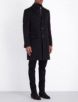 Corneliani Zip-insert single-breasted wool coat