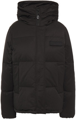 Kenzo Appliqued Quilted Cotton-blend Twill Hooded Down Jacket