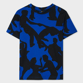 Paul Smith Women's Blue And Black 'Dancers' Cotton T-Shirt