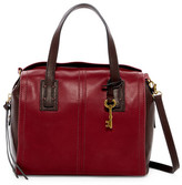 Fossil Emma Colorblock Leather Satchel
