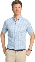 Izod Men's Checked Button-Down Shirt