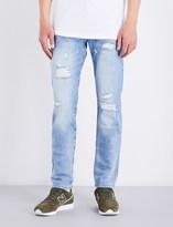 True Religion Rocco distressed slim-fit skinny stretch-denim jeans