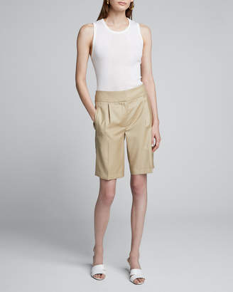 Loulou Studio Wool Suiting Knee Shorts