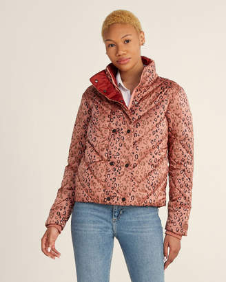 Scotch & Soda Leopard Pattern Short Quilted Jacket