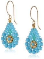 Miguel Ases Gold-Filled Turquoise Teardrop Earrings