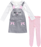 Youngland Gray & Pink Jumper Set - Toddler