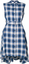 MM6 MAISON MARGIELA asymmetric checked shirt dress - women - Cotton - 40
