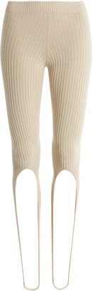 Jacquemus Albi Ribbed-Knit Stirrup Pants