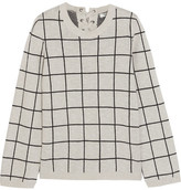 Madewell Regents Checked Cotton Sweater - Gray