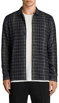 AllSaints Alverstone Checked Long Sleeve Shirt, Black